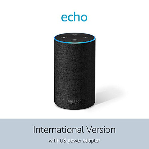 Amazon Echo (2nd Generation) International Version – Charcoal Fabric: Amazon Devices - MAXMARTZ