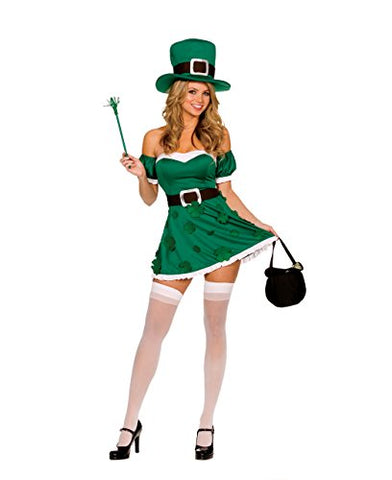 Dreamgirl Womens Irish Leprechaun Adult Costume: Clothing - MAXMARTZ
