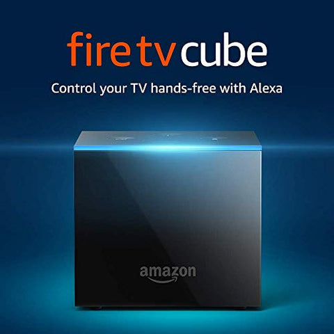 Amazon Fire TV Cube, hands-free with Alexa and 4K Ultra HD, streaming media player - MAXMARTZ