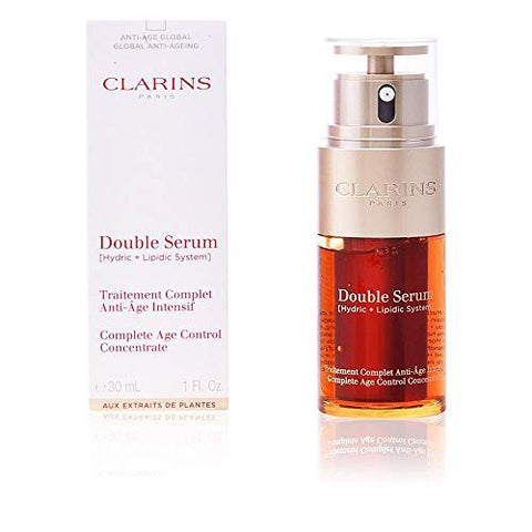 Clarins Double Serum (Hydric + Lipidic System) Complete Age Control Concentrate 14967 50ml/1.6oz: Beauty - MAXMARTZ