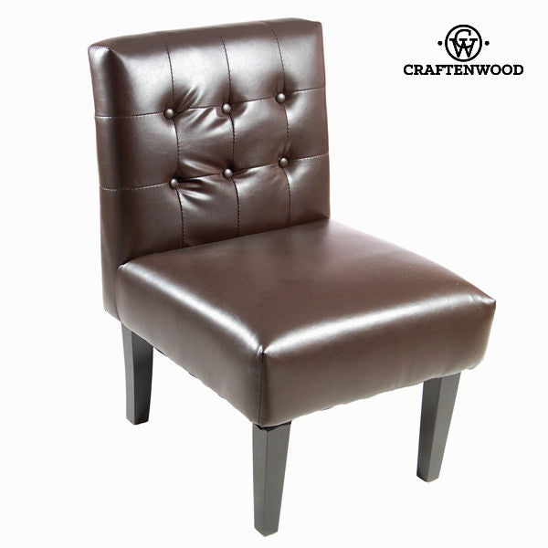 Brown imitation leather armchair - Relax Retro Collection by Craftenwood