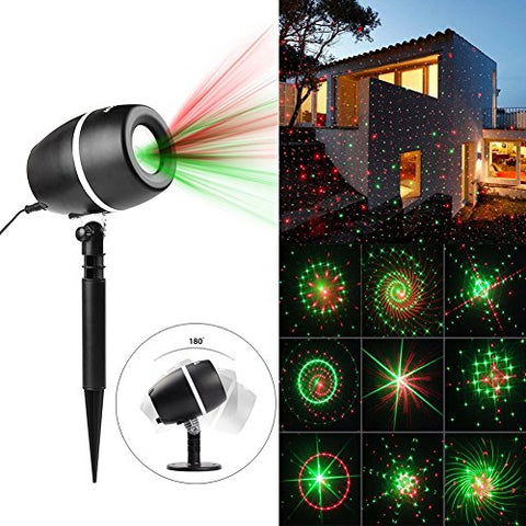 Projector Light 24 Patterns Star Show Projection Lamp with Auto Timer, Waterproof Landscape Projector Lights for Christmas, Halloween, Holiday, Party, Garden Lawn Wall Decorations (Style1) : Garden & Outdoor