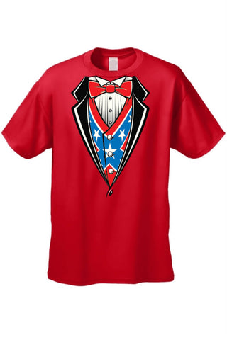 Confederate Rebel Flag T Shirt Tux