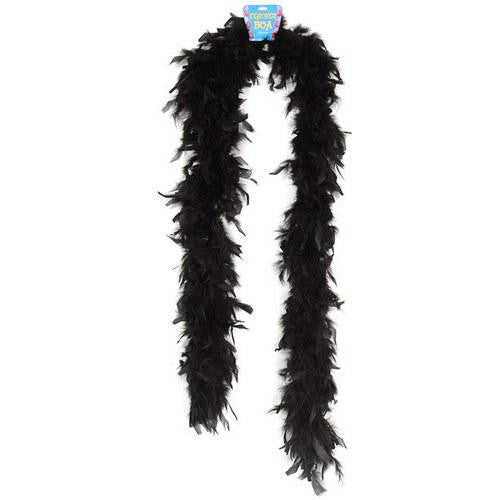 Lightweight Feather Boa - Black - MAXMARTZ