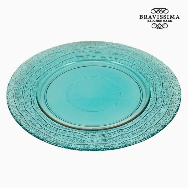 Recycled Glass Plate Turquoise (28 x 28 x 2 cm) by Bravissima Kitchen - MAXMARTZ