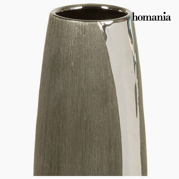 Vase Ceramic Silver Black - Serious Line Collection by Homania - MAXMARTZ