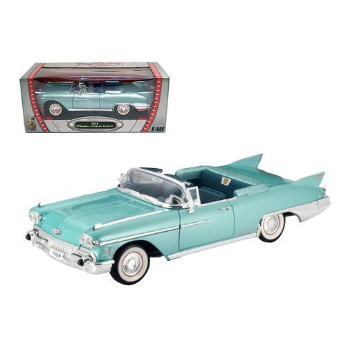 1958 Cadillac Eldorado Biarritz Green 1/18 Diecast Car by Road Signature - MAXMARTZ