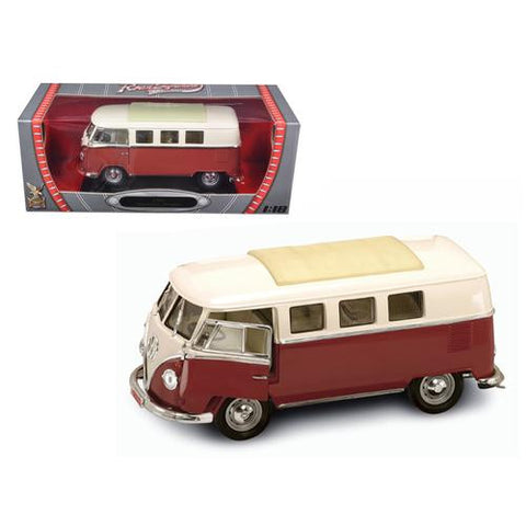 1962 Volkswagen Microbus Brown 1/18 Diecast Car Model by Road Signature - MAXMARTZ