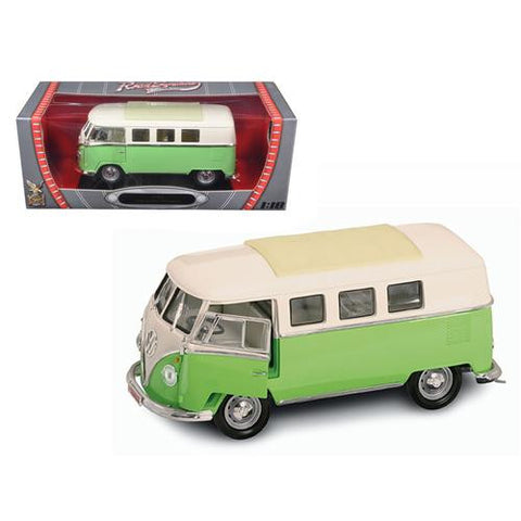 1962 Volkswagen Microbus Light Green 1/18 Diecast Car Model by Road Signature - MAXMARTZ