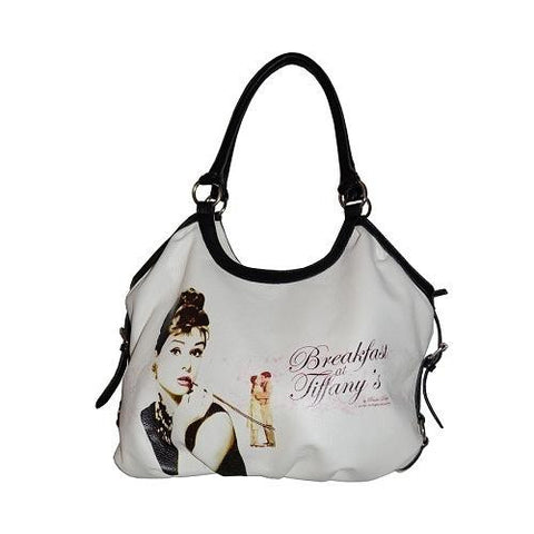 White Licensed Breakfast at Tiffany Shoulder Bag