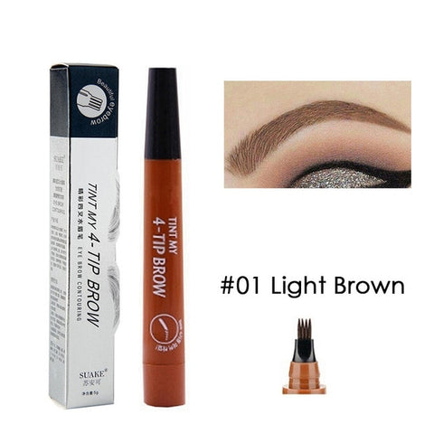 Eyebrow Tint 4 Tip Liquid Brow 5 Colors Pen Makeup Paint Eyebrow Liner Pen Cosmetics Waterproof Tool Microblade | eprolo
