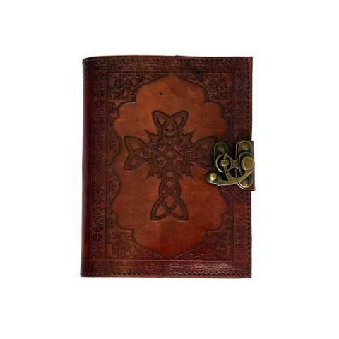 Celtic Cross leather blank book w/ latch - MAXMARTZ