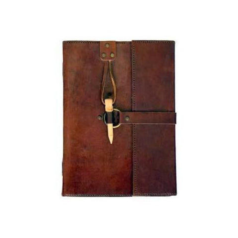 leather blank book w/ Peg Closure