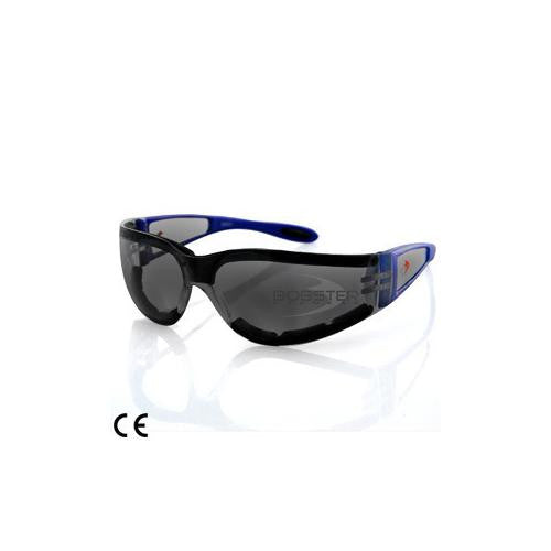 Shield II Sunglass, Blue Frame, Smoked Lens, Closed Cell - MAXMARTZ