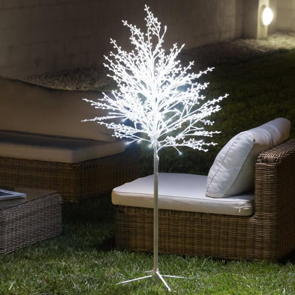 Snow-Covered Decorative Tree (120 LED lights)