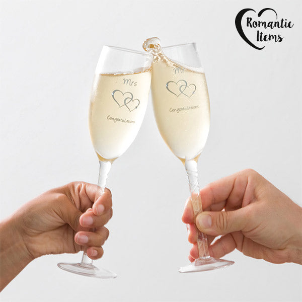 Romantic Items Congratulations Mr & Mrs Glasses (pack of 2) - MAXMARTZ
