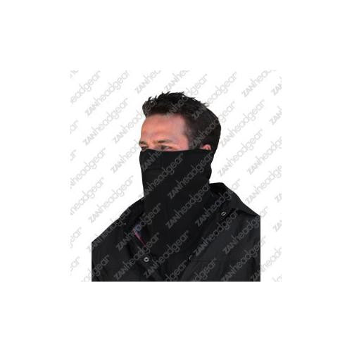 Face Mask w/ Mesh Mouth, Microfleece, Black - MAXMARTZ