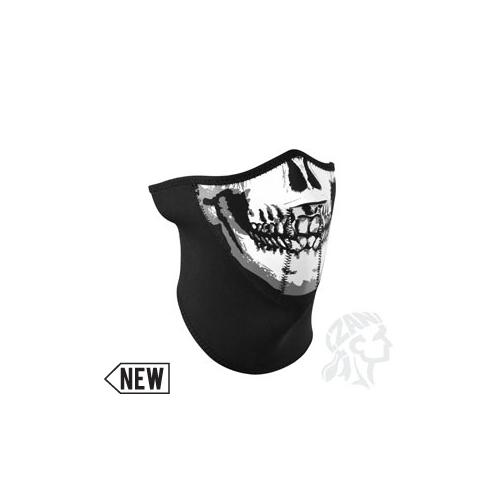3-Panel Half Mask, Neoprene, Skull Face