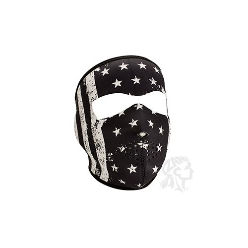 Full Mask, Neoprene, Black/White Vintage Flag - MAXMARTZ