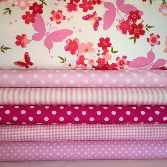 Pink Fat Quarter Fabric Bundle - 100% Cotton, Quilting Fabric - MAXMARTZ