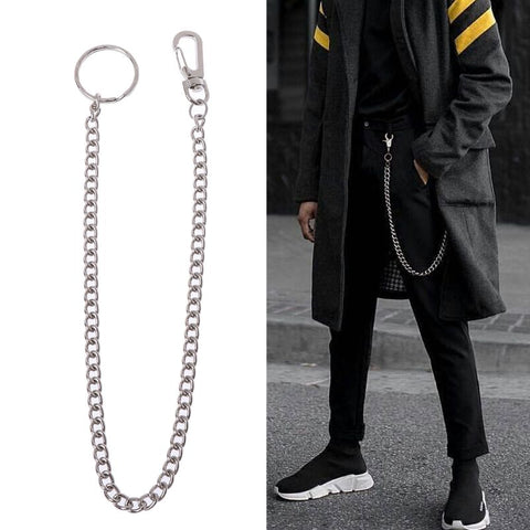 Hip Hop Pants Chain Secure Travel Wallet Chain Heavy Duty Jeans Link Coil Leash - MAXMARTZ