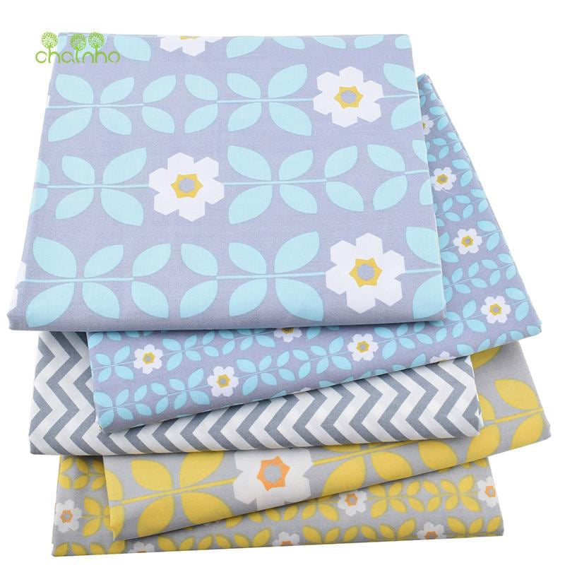 5pcs/lot,New Twill Cotton Fabric Patchwork Gray Tissue Cloth Fat Quarter Bundle Of Handmade DIY Quilting Sewing Textile Material - MAXMARTZ