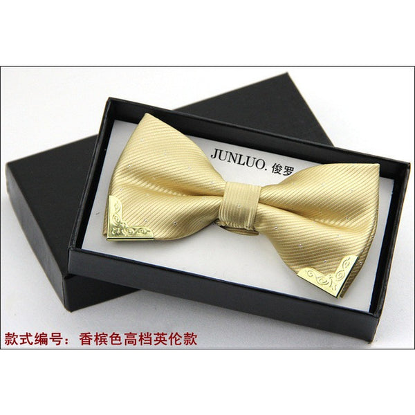 1 piece fashion 2016 new brand bow tie polyester silk butterfly adjustable wedding bow tie bow ties for men 20 colors LD8016 - MaxMartz