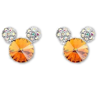 Classic Cute Mickey Shape stud earrings Made with SWAROVSKI ELEMENTS for Mother's Day gift - MaxMartz