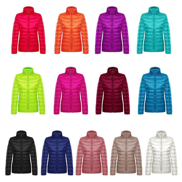 Ultra-Light Packable Jackets in Several Colours - Black, White, Blue, Pink, Red