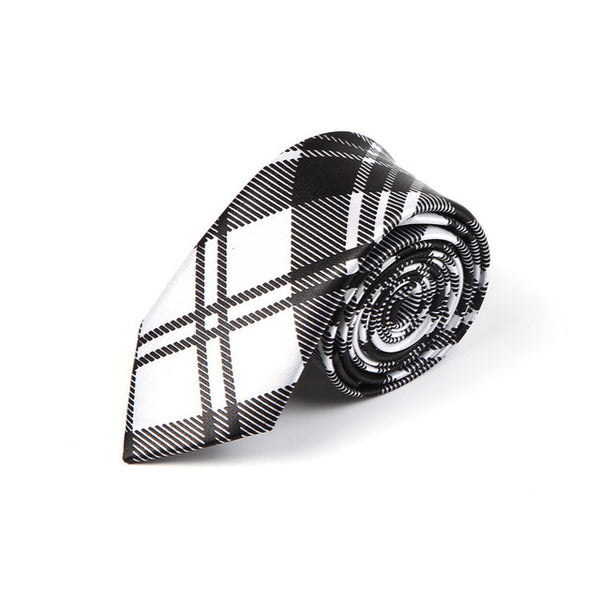 "5 cm width 4 Colors ""Scottish Plaid striped/Scottish tartan"" pattern men's gentlemen's skinny narrow party wedding neckties - MAXMARTZ"
