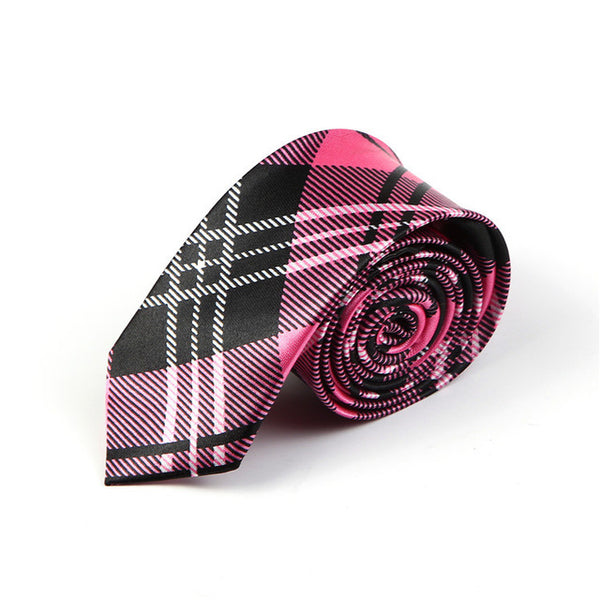 "5 cm width 4 Colors  ""Scottish Plaid striped/Scottish tartan"" pattern men's gentlemen's skinny narrow party wedding neckties"