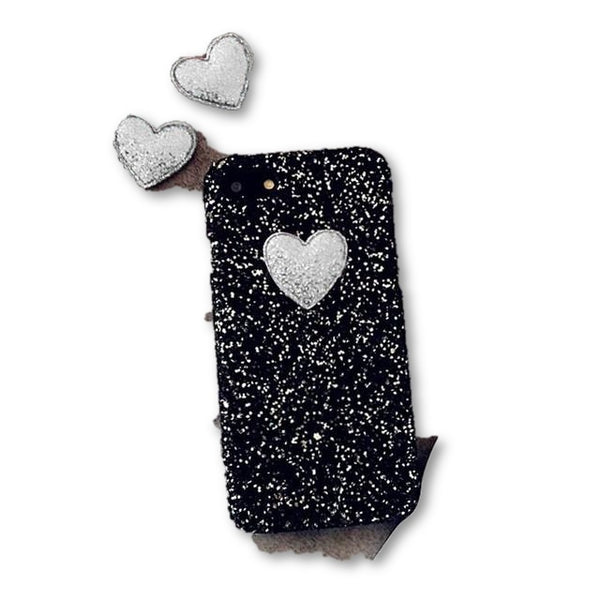 3D DIY Love Heart Case For iphone 7 6 6S Plus SE 5 5S Funda Fashion Bling Glitter Hard PC Back Cover - MAXMARTZ