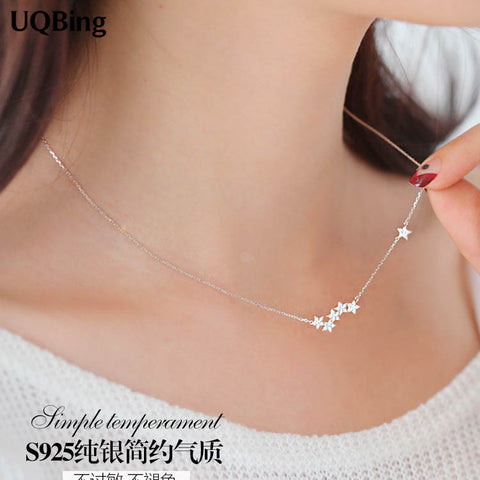 Sterling Silver Chain Necklaces Star Pendants & Necklace - MAXMARTZ