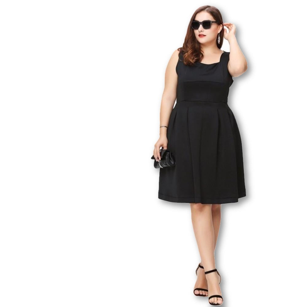 Women Plus Size A-Line Summer Strapless Vintage Elegant, Large Size 3XL 4XL 5XL 6XL Slim Dress