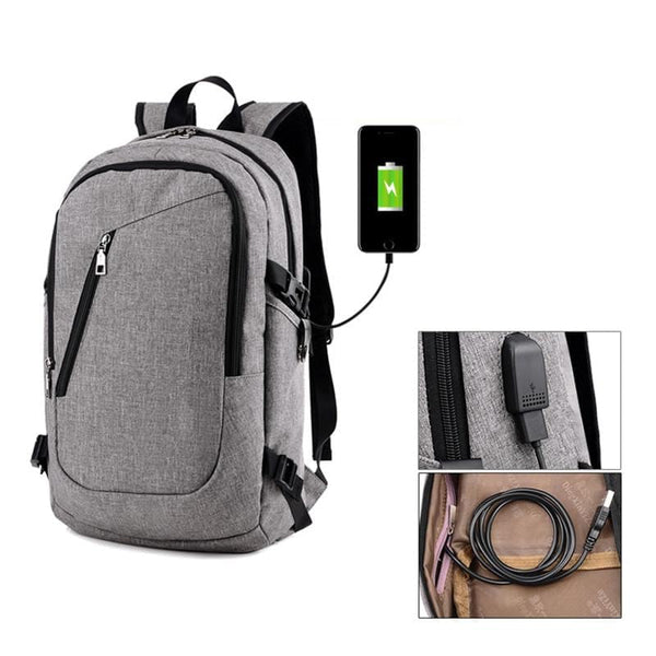 Multifunction USB Charging Laptop Backpacks Teenager Casual Travel Backpack Anti Thief Rucksack Popular