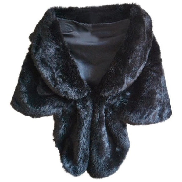 Beautiful and Elegant Faux Fur Wrap / Shrug - MAXMARTZ