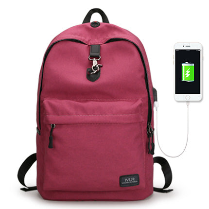 Markryden New Arrivals four Colors USB design Backpack Men Male student backpack weekend mochila - MAXMARTZ