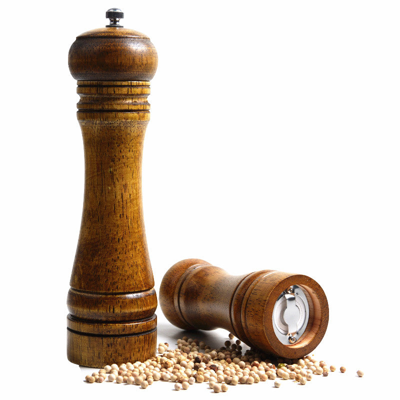 8 Inches Vintage Wooden Manual Pepper Grinder Salt And Spices Mill  Kitchen Grinding Tool Ceramic Core Grinders - MAXMARTZ