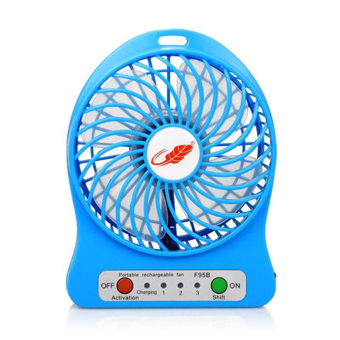USB Mini Fan Portable Electric Fans LED Portable Rechargeable Desktop Fan Cooling / Air Conditioner, Portable Fan, with Battery