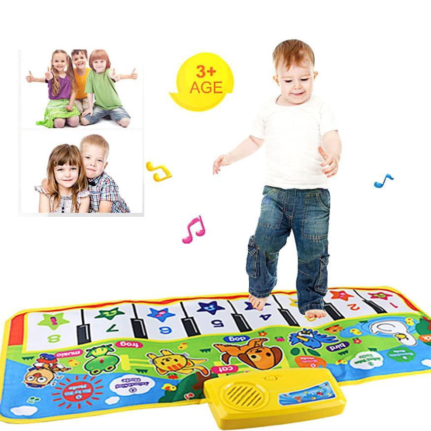 Hot keyboard Touch Play Keyboard Musical Music Instrument Singing Gym Carpet Mat Best Kids Baby Gift musical toys for children - MAXMARTZ