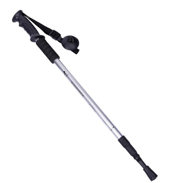 Anti Shock Adjustable Hiking Walking Trekking Poles - Black, Blue, Red, Silver 4-Sections 50-110cm