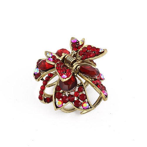 Elegant Retro Zinc Alloy with Rhinestones Butterfly Hair Claw Clips For Women and Girls - MAXMARTZ