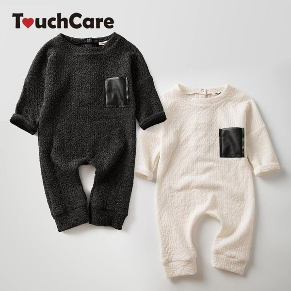 TouchCare 0-24M 100%Cotton Long Sleeve Black White Baby Jumpsuits Twins Brother Sister Romper Infant Boys Girls Play Suits - MAXMARTZ