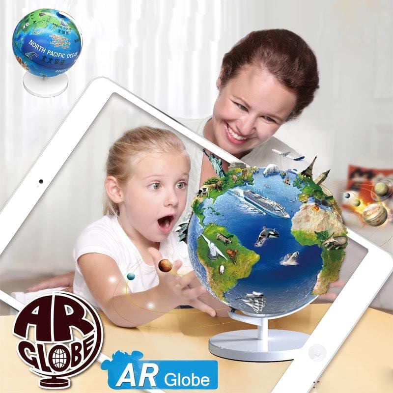 2017 New Arrival BD01 3D AR Globe Learning & Education Toys Augmented Reality Toys Geographical Knowledge Toy Best Gift for Kids - MAXMARTZ
