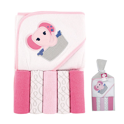 New Arrival 6 PCS Baby Towels Cute Animal Style Baby Hooded Towel & 5 PCS Baby Washcloths Handkerchief 76*76 cm Bath & Shower - MAXMARTZ