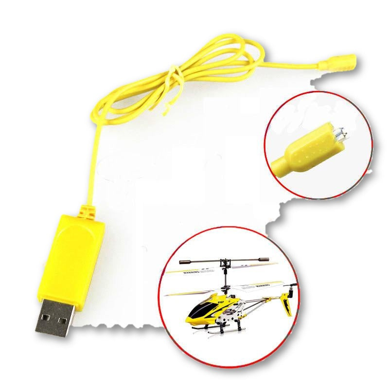 2PCS RC Helicopter Syma S107 S105 USB Mini Charger Charging Cable Parts Drone Charging Cable 40#yh - MAXMARTZ