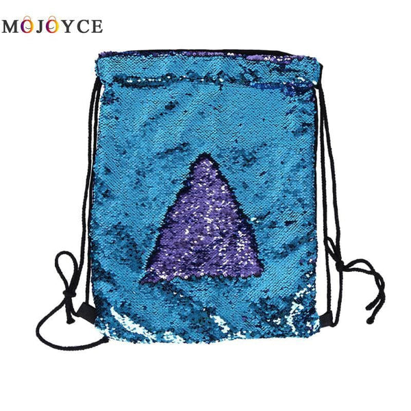 Mermaid Sequin Drawstring Backpacks Glittering Shoulder Bling Bags Reversible Glitter Drawstring Backpacks Women Beach Bags
