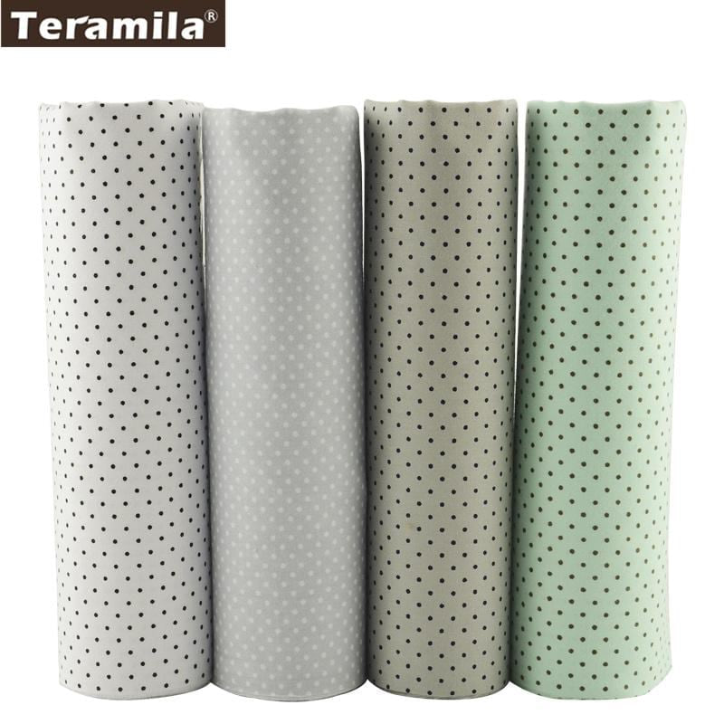 Teramila Fabric Little White and Black Dot Design 40cmx50cm Fat Quarter Cotton Fabric Sewing Cloth Patchwork Hotel Dedding Sheet - MAXMARTZ