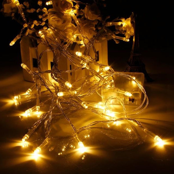 1M 10 Led String Light Christmas Lights Fairy Outdoor Garden Wedding Party Led Strings Battery Colorful LED Holiday Light - MAXMARTZ