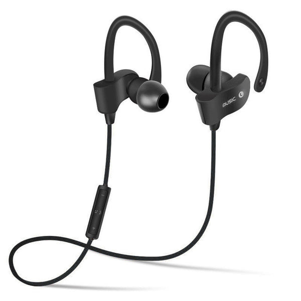 Bluetooth 4.1 Headphone Wireless Sweat-proof Sport Headphones Stereo Headset Noise Cancelling Aptx for iPhone Android - MAXMARTZ